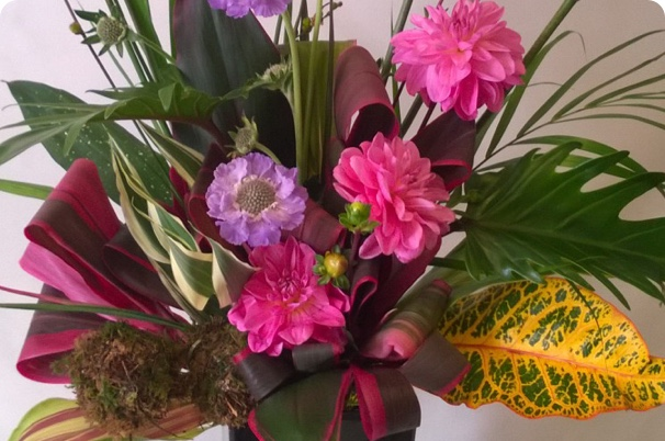colourful bouquet provided by Belle & Blossom, leading florist new forest & flower delivery beaulieu